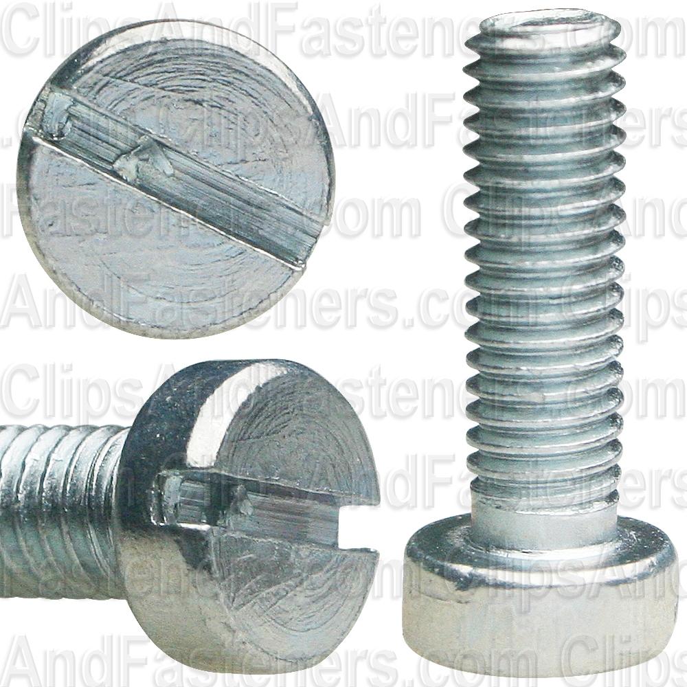 #10-24x3//4 Fillister Head Slotted Machine Screws Steel Zinc Plated 25