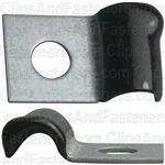 Half Clamp 3/16 - Galvanized Vinyl Coated