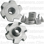 #10-24 X 9/32 Teenut 6 Claw Prongs -Round Base