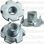 5/16-18 X 3/8 Teenut 6 Claw Prongs -Round Base