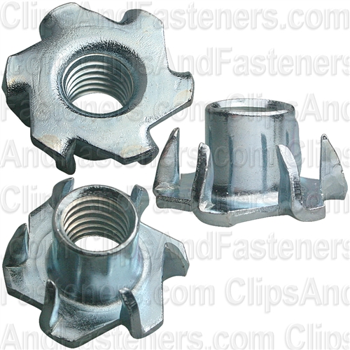 3/8-18 X 7/16 Teenut 6 Claw Prongs -Round Base