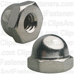 "#10-24 X 3/8"" Steel Acorn Cap Nut - Nickel Plated"