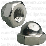 "5/16""-18 X 9/16"" Steel Acorn Cap Nut - Nickel Plated"
