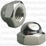 "3/8""-16 X 5/8"" Steel Acorn Cap Nut - Nickel Plated"