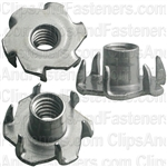 1/4-20 X 5/16 Teenut 6 Claw Prongs -Round Base