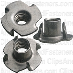5/16-18 X 3/8 Teenut 4 Prong Slimline -Round Base