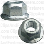 M8-1.25 Hex Flange Locknut 17mm Flange