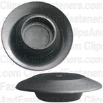 Flush Sheet Metal Plug Plastic 1/2 Hole Black