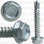 #8 X 1 Ind Hex Wa Hd #2 Teks Screw - Zinc