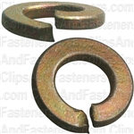 "5/16"" High Alloy Split Lock Washer - Zinc & Yellow"