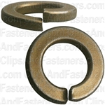 "1/2"" High Alloy Split Lock Washer - Zinc & Yellow"