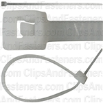 4 In 18 Lb Nylon Cable Ties - Natural