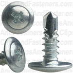 "#8 X 1/2"" Phillips Washer Head Screw With Teks Point"