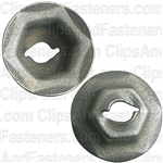 Thread Cutting Nut 4mm Stud Size - Zinc/Yellow