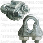 "Nipper Wire Rope Clip 3/16"" Dia. - Galvanized"