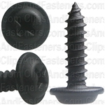 "#8 X 5/8"" Phillips Flat Top Washer Head Screws Black E-Coat"