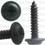 #8 X 3/4 Phillips Flat Top Washer Head Screws Black E-Coat