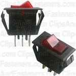 Illuminated Rocker Switch Red