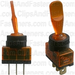 Illuminated Toggle Switch Amber