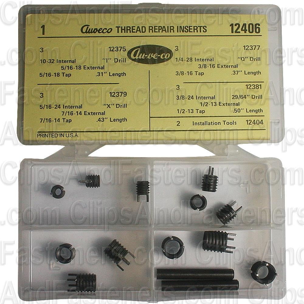 Clipsandfasteners Inc Metric Thread Repair Inserts M10-1.25 Internal Thread
