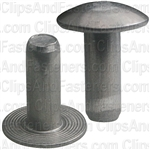 3/16 Brazier Head Solid Aluminum Rivet 1/2 Length (100)