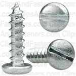 "#10 X 3/4"" Zinc Slotted Pan Head Tapping Screws"