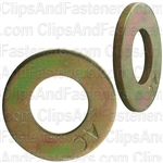 "5/16"" SAE Grade 8 Washer Zinc & Gold Dichromate"