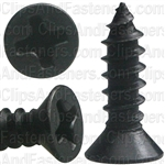 "#6 X 1/2"" Phillips Flat Head Tapping Screw Black Oxide"