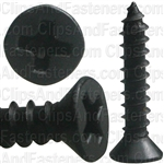 "#6 X 3/4"" Phillips Flat  Head Tapping Screw Black Oxide"
