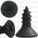 "#10 X 1/2"" Phillips Flat  Head Tapping Screw Black Oxide"