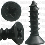 "#10 X 3/4"" Phillips Flat Head Tapping Screw Black Oxide"
