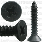 "#10 X 1"" Phillips Flat Head Tapping Screw Black Oxide"
