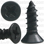 "#4 X 3/8"" Phillips Flat Head Tapping Screw Black Oxide"