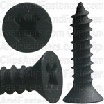 "#4 X 1/2"" Phillips Flat Head Tapping Screw Black Oxide"