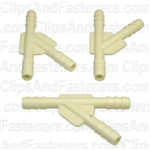 Nylon Y Connector 3/16 X 3/16 X 3/16