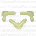 Nylon Elbow Connector 1/4 X 1/4