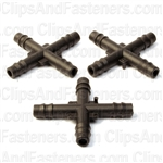 Nylon Cross Connector 3/16All Ends