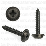#6 X 3/4 Phillips Flat Top Washer Head Screws Black Oxide