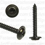 #6 X 1 Phillips Flat Top Washer Head Screws Black Oxide