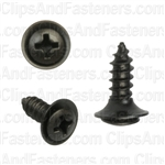 "#8 X 1/2"" Phillips Oval #6 Head Sems Flush Washer Black Oxide"