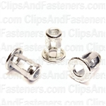 Metric Jack Nuts M6-1.0 Thread Zinc Plated