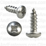 8 X 1/2 Phillips Pan Head Tap Screw 18-8