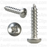 8 X 3/4 Phillips Pan Head Tap Screw 18-8