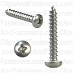 8 X 1 Phillips Pan Head Tap Screw 18-8