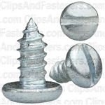 "#14 X 1/2"" Zinc Slotted Pan Head Tapping Screws"