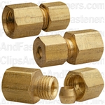 Brass Female Connector 3/16 Tube Size 1/8 Thread