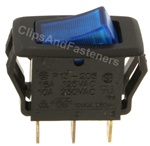 Illuminated Rocker Switch-Blue