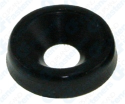 #6 Nylon Finishing Washer - Black