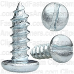 "#14 X 3/4"" Zinc Slotted Pan Head Tapping Screws"