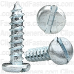"#14 X 1"" Zinc Slotted Pan Head Tapping Screws"